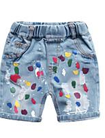 economico -Bambino (1-4 anni) Unisex Fantasia geometrica / Monocolore Jeans