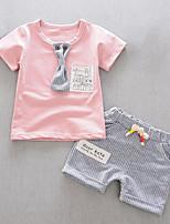 Недорогие -Дети (1-4 лет) Мальчики Полоски Пэчворк С короткими рукавами Набор одежды