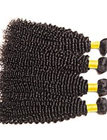 cheap -Brazilian Hair Curly Natural Color Hair Weaves / Human Hair Extensions 4 Bundles Human Hair Weaves Best Quality / Hot Sale / For Black Women Natural Black Human Hair Extensions Women's