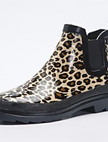 cheap -Women's Shoes Latex Fall Rain Boots Boots Low Heel Leopard