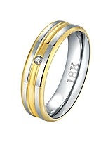 cheap -Band Ring - Basic, Cool 8 / 9 Gold For Daily / Work