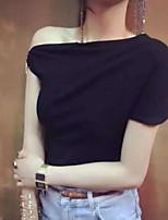 abordables -Tee-shirt Femme, Couleur Pleine Bateau