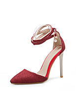 cheap -Women's Shoes Faux Leather Spring & Summer Basic Pump Heels Stiletto Heel Pointed Toe Gold / Silver / Red