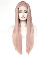 Недорогие -Синтетические кружевные передние парики Прямой Стрижка каскад 150% Человека Плотность волос Искусственные волосы Жаропрочная / Эластичный
