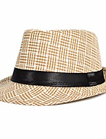 cheap -Unisex Holiday Polyester Bucket Hat - Color Block Houndstooth Tassel