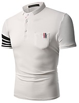 cheap -Men's Polo - Striped / Color Block Embroidered / Patchwork