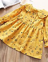cheap -Toddler Girls' Geometric Long Sleeve Dress