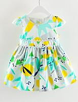 cheap -Kids Girls' Geometric / Color Block Short Sleeve Dress
