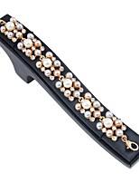 abordables -Femme Chaînes & Bracelets / Charmes pour Bracelets / Bracelet - Imitation de perle, Plaqué or Bracelet Or Pour Soirée / Quotidien