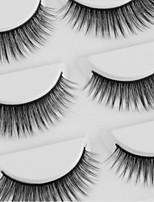 abordables -Œil 1pcs Naturel / Bouclé Maquillage Quotidien Cils Entiers Maquillage Portable / Universel Portable / Pro Quotidien / Exercice 1cm-1.5cm