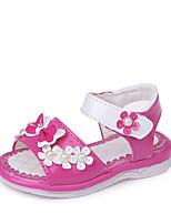 Недорогие -Девочки Обувь Дерматин Лето Удобная обувь / Детская праздничная обувь Сандалии Для прогулок для Ребёнок до года Красный / Розовый