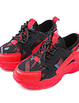 abordables -Garçon Chaussures Cuir Printemps Confort Basket pour De plein air Noir Rouge
