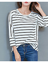 cheap -Women's Basic T-shirt - Striped Print
