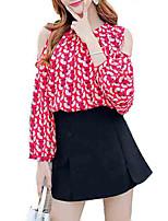 abordables -Mujer Noche Blusa, Cuello Barco Geométrico
