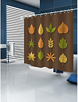 cheap -Shower Curtains & Hooks Contemporary Modern Polyester Geometric Machine Made Waterproof Bathroom