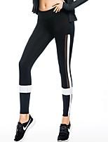 abordables -Femme Maille / Mosaïque Collants de Course - Noir / Blanc Des sports Mode Collants / Leggings Exercice & Fitness, Gymnastique Tenues de Sport Séchage rapide, Compression Haute élasticité