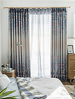 cheap -Two Panel Korean Pastoral Style Printed Blackout Curtains For Living Room Bedroom Dining Room Children's Room Curtains