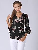 Недорогие -Жен. Блуза Уличный стиль Цветочный принт