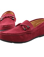 cheap -Men's Shoes PU Spring & Fall Comfort Loafers & Slip-Ons Dark Blue / Gray / Red