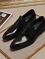 Недорогие -Муж. обувь Кожа Весна Формальная обувь Мокасины и Свитер Черный Коричневый