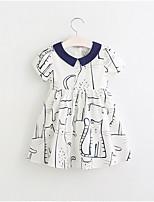 abordables -Enfants Fille Géométrique Manches Courtes Robe