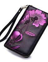 cheap -Women's Bags Cowhide Wallet Zipper / Embossed Green / Red / Purple