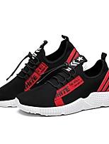 cheap -Men's Shoes Mesh Spring / Fall Comfort / Light Soles Sneakers Black / White / Black / Red