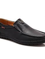 Недорогие -Муж. обувь Кожа Весна & осень Удобная обувь Мокасины и Свитер Черный / Желтый / Коричневый