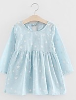 cheap -Toddler Girls' Blue & White Galaxy Long Sleeve Dress