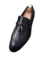 abordables -Homme Chaussures PU de microfibre synthétique Printemps Automne Confort Mocassins et Chaussons+D6148 pour Décontracté Noir