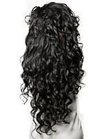 preiswerte -Unbearbeitet Echthaar Perücke Peruanisches Haar Wellen Seitenteil 250% Dichte Mit Babyhaar Unverarbeitet Natürlicher Haaransatz Natürlich