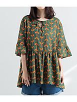 economico -T-shirt Per donna Essenziale / Moda città Con stampe, Fantasia floreale