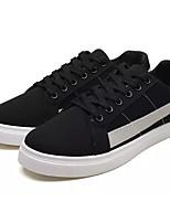 cheap -Men's Shoes Fabric / PU Fall Comfort Sneakers White / Black / Black / Green