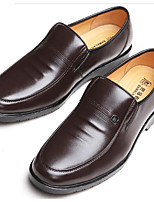 cheap -Men's Shoes Cowhide Fall Comfort Loafers & Slip-Ons Black / Brown
