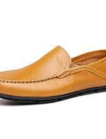 Недорогие -Муж. обувь Кожа Наппа Leather Весна Осень Обувь для дайвинга Удобная обувь Мокасины и Свитер для Повседневные Черный Коричневый Синий
