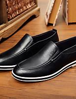 abordables -Homme Chaussures Cuir Printemps & Automne Confort Mocassins et Chaussons+D6148 Noir / Rouge
