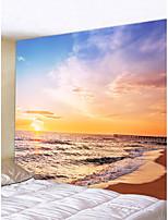 Недорогие -Пляж Пейзаж Декор стены Полиэстер Современный Modern Предметы искусства, Стена Гобелены Украшение