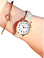 cheap -Women's Quartz Wrist Watch Chinese Chronograph / Casual Watch Leather Band Vintage / Fashion White / Blue / Brown
