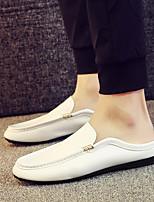 Недорогие -Муж. обувь Полиуретан Лето Удобная обувь / Мокасины Мокасины и Свитер Белый / Черный / Оранжевый