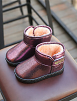 cheap -Girls' Shoes Leatherette Winter Snow Boots Boots for Outdoor Black Silver Purple Red Pink