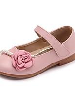 preiswerte -Mädchen Schuhe PU Sommer Mary Jane Flache Schuhe Imitationsperle für Draussen Beige Blau Rosa