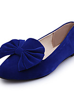 cheap -Women's Shoes Velvet Spring & Summer Moccasin Flats Flat Heel Round Toe Satin Flower Black / Royal Blue / Burgundy / Party & Evening