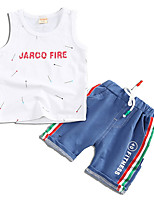 cheap -Kids Boys' Solid Colored Sleeveless Clothing Set