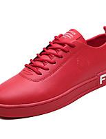 economico -Per uomo Scarpe Similpelle / PU (Poliuretano) Estate Comoda Sneakers Bianco / Nero / Rosso