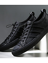 cheap -Men's Shoes Cowhide Fall Comfort Sneakers Black