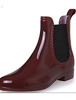 cheap -Women's Shoes Rubber Spring & Summer Rain Boots Boots Low Heel for Black / Dark Blue / Wine