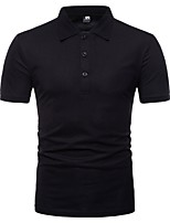 cheap -Men's Basic Polo - Solid Colored Patchwork
