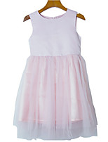 cheap -Kids Girls' Solid Colored Sleeveless Dress