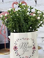 abordables -Fleurs artificielles 1 Une succursale Rustique Plantes Fleur de Table