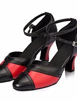 cheap -Women's Modern Shoes PU Heel Performance Practice Stiletto Heel Black / Red